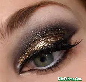 Shiny-gold-eye-makeup-sitetehran.com-01
