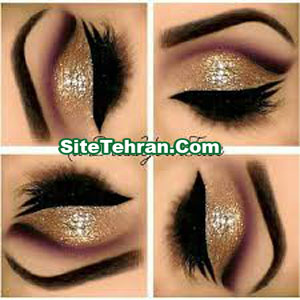 Shiny-gold-eye-makeup-sitetehran.com-010