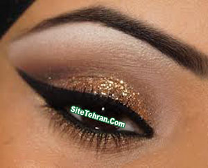 Shiny-gold-eye-makeup-sitetehran.com-02