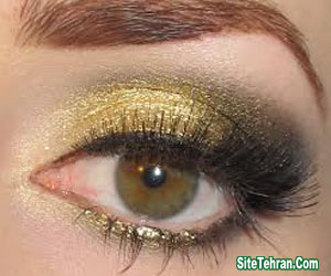 Shiny-gold-eye-makeup-sitetehran.com-04