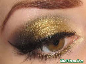 Shiny-gold-eye-makeup-sitetehran.com-05