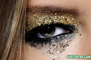 Shiny-gold-eye-makeup-sitetehran.com-07