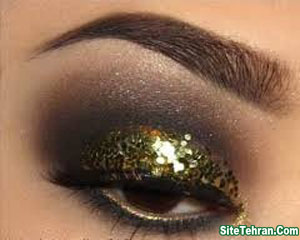 Shiny-gold-eye-makeup-sitetehran.com-08