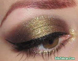 Shiny-gold-eye-makeup-sitetehran.com-09