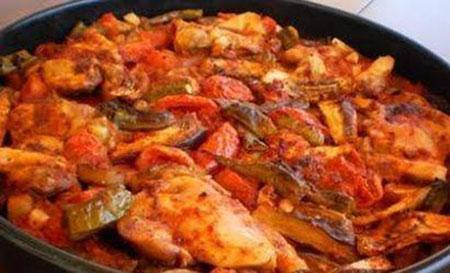 خوراک ترکیه ای تاووک روش تهیه