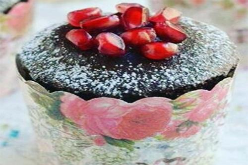 کاپ کیک انار و شکلات ویژه شب یلدا